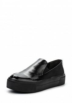 Слипоны, DKNY, цвет: черный. Артикул: DK001AWPVI04. Премиум / Обувь