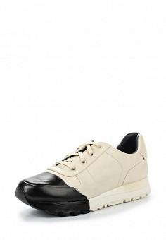 Кроссовки, DKNY, цвет: бежевый. Артикул: DK001AWROY32. Женская обувь / Кроссовки и кеды
