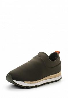 Кроссовки, DKNY, цвет: хаки. Артикул: DK001AWROY47. Женская обувь / Кроссовки и кеды