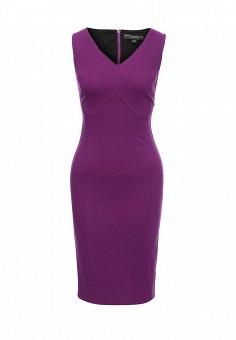 Платье, Dorothy Perkins, цвет: фиолетовый. Артикул: DO005EWTFX26. Женская одежда / Платья и сарафаны / Офисные платья