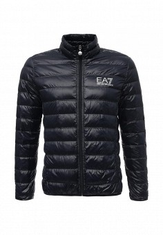Пуховик, EA7, цвет: синий. Артикул: EA002EMUEE42. Мужская одежда / Верхняя одежда / Пуховики и зимние куртки