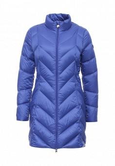 Пуховик, EA7, цвет: синий. Артикул: EA002EWJXT85. Женская одежда