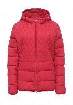 Пуховик, EA7, цвет: розовый. Артикул: EA002EWJXT93. Женская одежда