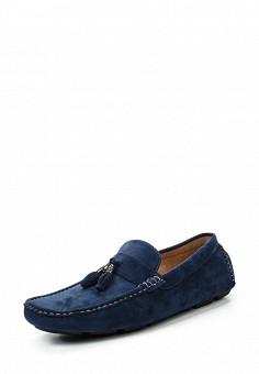 Мокасины, Elong, цвет: синий. Артикул: EL025AMRTU35. Мужская обувь / Мокасины и топсайдеры