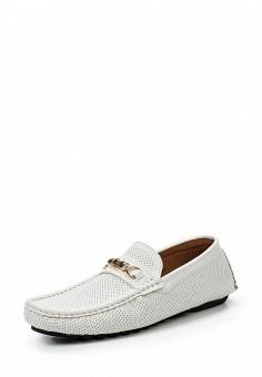 Мокасины, Elong, цвет: белый. Артикул: EL025AMRTU38. Мужская обувь / Мокасины и топсайдеры