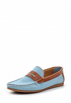 Мокасины, Elong, цвет: голубой. Артикул: EL025AMTJL09. Мужская обувь / Мокасины и топсайдеры