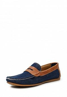 Мокасины, Elong, цвет: синий. Артикул: EL025AMTJL10. Мужская обувь / Мокасины и топсайдеры