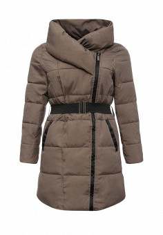 Куртка утепленная, Emoi Size Plus, цвет: бежевый. Артикул: EM003EWKIK58. Женская одежда / Верхняя одежда / Пуховики и зимние куртки