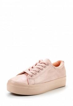 Кеды, Exquily, цвет: розовый. Артикул: EX003AWRMY15. Женская обувь / Кроссовки и кеды