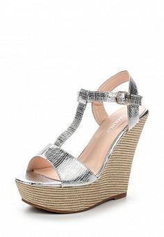 Босоножки, Exquily, цвет: серебряный. Артикул: EX003AWTJL90. Женская обувь / Босоножки