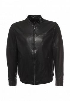 Куртка кожаная, Finn Flare, цвет: черный. Артикул: FI001EMQBI81. Мужская одежда / Верхняя одежда / Кожаные куртки
