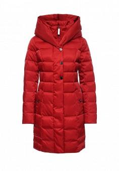 Пуховик, FiNN FLARE, цвет: красный. Артикул: FI001EWKHE82. Женская одежда / Верхняя одежда