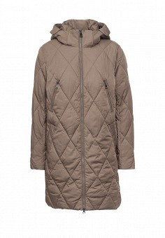 Куртка утепленная, FiNN FLARE, цвет: коричневый. Артикул: FI001EWKHE94. Женская одежда / Верхняя одежда
