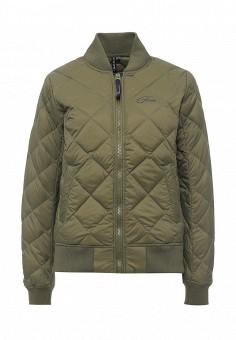 Пуховик, Five Seasons, цвет: хаки. Артикул: FI615EWRWF53. Женская одежда / Верхняя одежда / Пуховики и зимние куртки