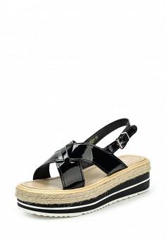 Босоножки, Flyfor, цвет: черный. Артикул: FL009AWSVB80. Женская обувь / Босоножки