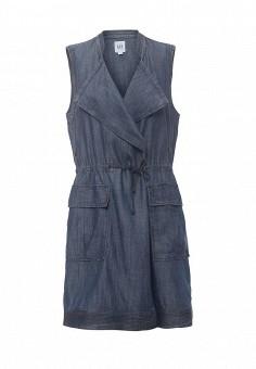 Жилет джинсовый, Gap, цвет: синий. Артикул: GA020EWNQU42. Женская одежда / Верхняя одежда / Жилеты / Джинсовые жилеты