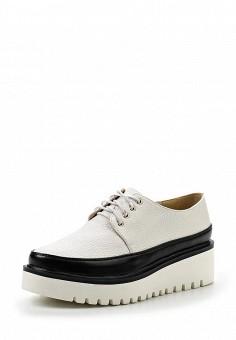 Ботинки, Gene, цвет: белый. Артикул: GE632AWRKR51. Женская обувь / Ботинки / Низкие ботинки