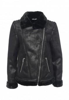 Дубленка, Glamorous, цвет: черный. Артикул: GL008EWJDZ29. Женская одежда / Верхняя одежда / Шубы и дубленки