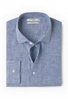 Рубашка, Mango Man, цвет: синий. Артикул: HE002EMROD25. Мужская одежда / Рубашки