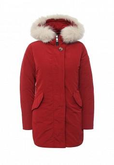 Пуховик, Hetrego, цвет: красный. Артикул: HE832EWMCV37. Женская одежда