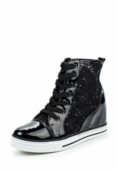 Кеды на танкетке, Ideal, цвет: черный. Артикул: ID005AWPVB85. Женская обувь / Кроссовки и кеды / Кеды