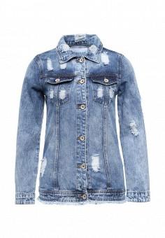 Куртка джинсовая, Imocean, цвет: синий. Артикул: IM007EWSNN53. Женская одежда / Тренды сезона / Летний деним / Джинсовые куртки