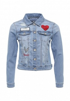Куртка джинсовая, Imocean, цвет: голубой. Артикул: IM007EWSNN54. Женская одежда / Тренды сезона / Летний деним / Джинсовые куртки