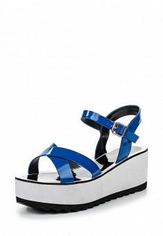 Босоножки, Inario, цвет: синий. Артикул: IN029AWQQX95. Женская обувь / Босоножки