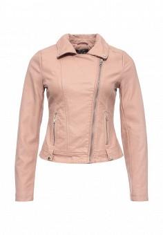 Куртка кожаная, Jennyfer, цвет: розовый. Артикул: JE008EWRIL50. Женская одежда / Верхняя одежда / Кожаные куртки