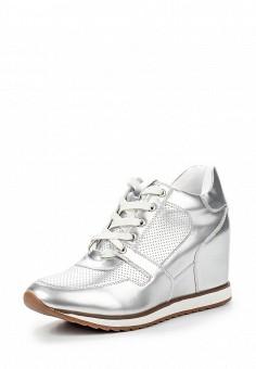 Кеды на танкетке, Keddo, цвет: серебряный. Артикул: KE037AWQCE87. Женская обувь / Кроссовки и кеды