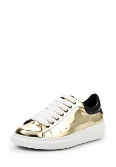 Кеды, Keddo, цвет: золотой. Артикул: KE037AWQCF00. Женская обувь / Кроссовки и кеды