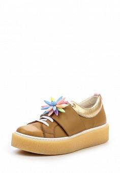 Кеды, KMB, цвет: бежевый. Артикул: KM001AWSAR38. Женская обувь / Кроссовки и кеды