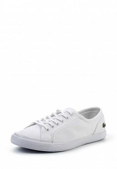 Кеды, Lacoste, цвет: белый. Артикул: LA038AWPZN98. Женская обувь / Кроссовки и кеды