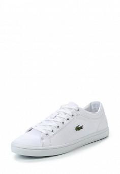 Кеды, Lacoste, цвет: белый. Артикул: LA038AWPZO00. Женская обувь / Кроссовки и кеды