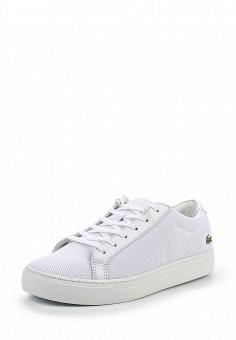 Кеды, Lacoste, цвет: белый. Артикул: LA038AWPZO11. Женская обувь / Кроссовки и кеды