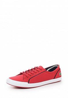 Кеды, Lacoste, цвет: красный. Артикул: LA038AWPZO18. Женская обувь / Кроссовки и кеды