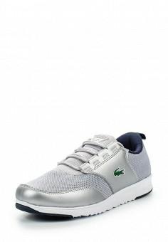 Кроссовки, Lacoste, цвет: серебряный. Артикул: LA038AWPZP32. Женская обувь / Кроссовки и кеды