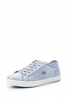 Кеды, Lacoste, цвет: голубой. Артикул: LA038AWPZP35. Женская обувь / Кроссовки и кеды