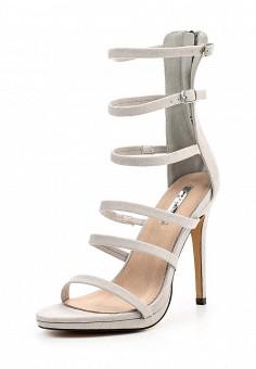 Босоножки, LOST INK, цвет: серый. Артикул: LO019AWOVU51. Женская обувь / Босоножки