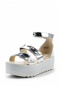 Босоножки, LOST INK, цвет: серебряный. Артикул: LO019AWTND56. Женская обувь / Босоножки