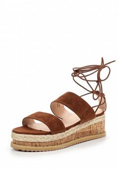 Босоножки, LOST INK, цвет: коричневый. Артикул: LO019AWTXE78. Женская обувь / Босоножки