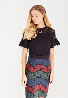 Блуза, LOST INK, цвет: черный. Артикул: LO019EWJOT39. Женская одежда / Топы и майки