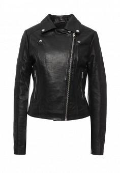 Куртка кожаная, LOST INK, цвет: черный. Артикул: LO019EWJOU27. Женская одежда