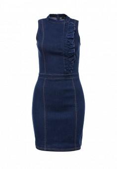 Платье, LOST INK, цвет: синий. Артикул: LO019EWJOV66. Женская одежда / Платья и сарафаны / Джинсовые платья