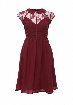 Платье, LOST INK, цвет: бордовый. Артикул: LO019EWNIS39. Женская одежда