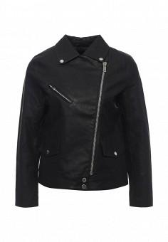 Куртка кожаная, LOST INK, цвет: черный. Артикул: LO019EWPUV51. Женская одежда / Верхняя одежда / Косухи
