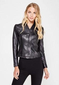 Куртка кожаная, Love Republic, цвет: черный. Артикул: LO022EWUTA88. Женская одежда / Верхняя одежда / Кожаные куртки