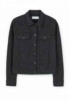 Куртка джинсовая, Mango, цвет: черный. Артикул: MA002EWPRA07. Женская одежда / Верхняя одежда / Джинсовые куртки