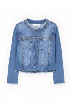 Куртка джинсовая, Mango, цвет: синий. Артикул: MA002EWSDR68. Женская одежда / Тренды сезона / Летний деним / Джинсовые куртки