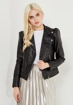 Куртка, Mango, цвет: черный. Артикул: MA002EWVCB40. Женская одежда / Верхняя одежда / Косухи